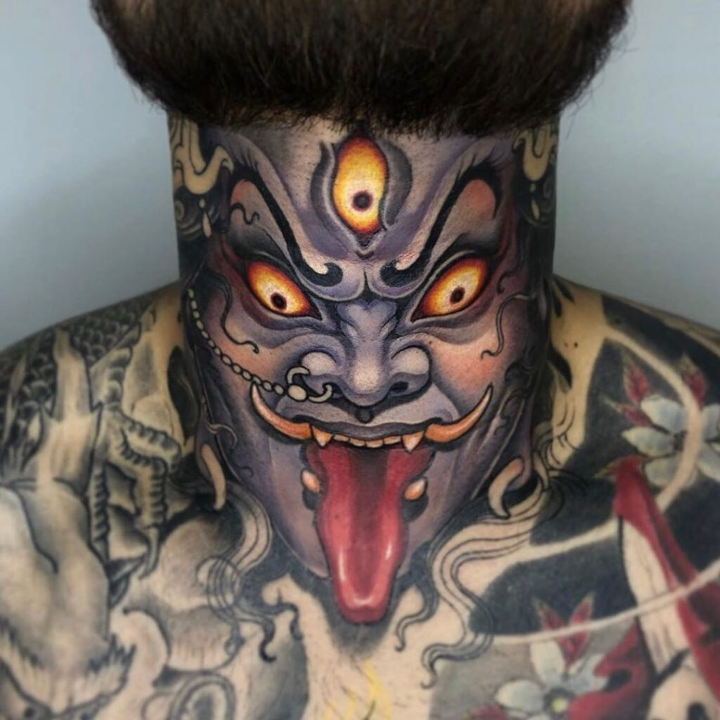 Throat Tattoos 54