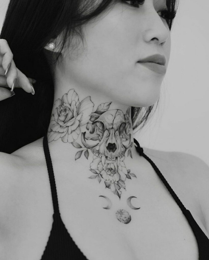 Throat Tattoos 60