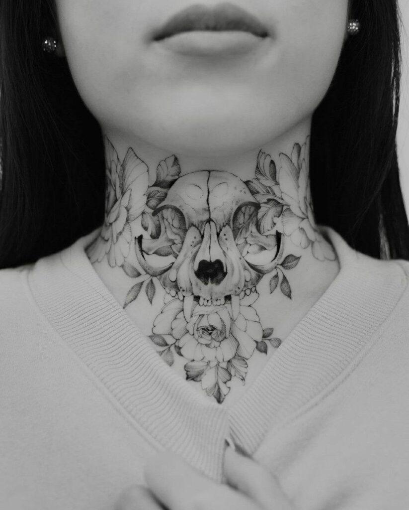 Throat Tattoos 77