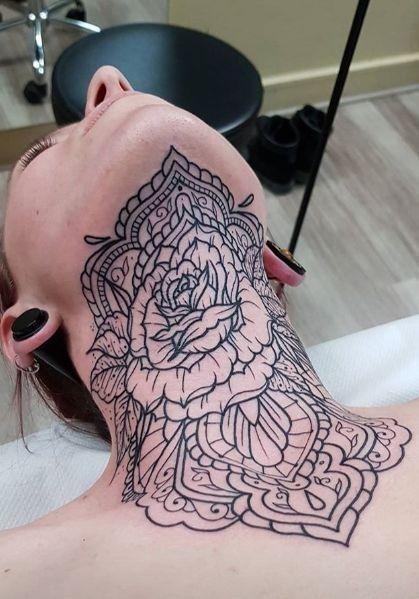 Throat Tattoos 9