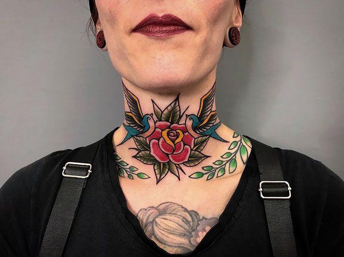 Throat Tattoos 95